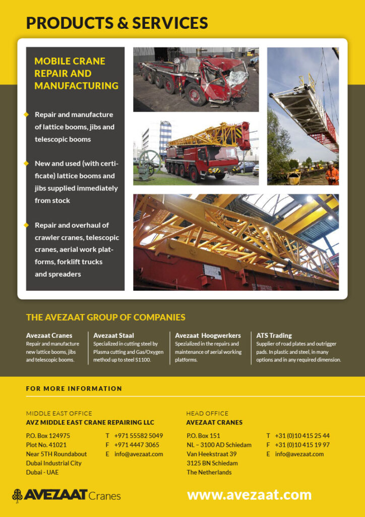 Avezaat Cranes in the Middle East -Dubai-2